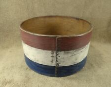 Antique Old Red White & Blue Painted Wooden Large Pantry Measure Box