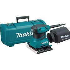Makita1/4 Sheet Finishing Sander with Tool Case grip design Corded Teal With Bag