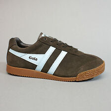 Gola Harrier Premium Suede Dark Brown Pale Blue Turnschuhe Wildleder braun Gr 40