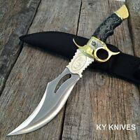 """13.5"""" Black Widow Hunting Knife Bowie Fixed Blade With Sheath NEW 210451"""
