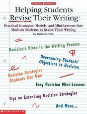 Helping Students Revise Their Writing Grades 2-6 Classroom Home School Education