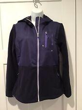 Free Country Women's Purple MicroTech Fleece Hybrid Zip Up Hooded Jacket Size M