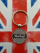 TWO  QUALITY NORTON EMBROIDERED KEYRINGS   FREE P+P UK SELLER.