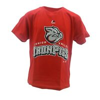 Lehigh Valley Ironpigs Official MLB Majestic Kids Youth Size T-Shirt New Tags