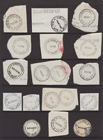 Victoria postmark selection on stampless piece circa 1970
