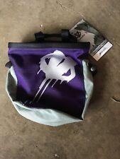 Evolv Chalk Bag RoundTangular (Purple & Gray) With Belt New 10-5