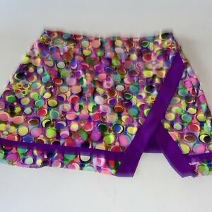 Tzu Tzu Women's Golf Skort Medium Colorful Sporty Activewear Dots Casual