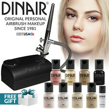 Dinair Airbrush Foundation Makeup Kit | 10pc Make-Up Set | Fair Shades PRO