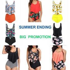 Womens Tankini Bikini Set High Waist Swimsuit Bathing Suit Summer Beach Swimwear