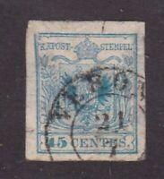 Austria stamps,Lombardy-Venetia #6, used, type 1, 1850, SCV  $57.50