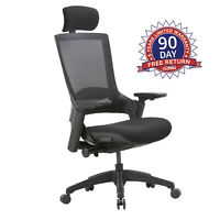 Ergonomic Adjustable Head Rest Arm Rest Home Office Chair Executive Chairs Black