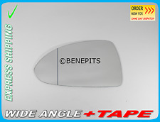 Wing Mirror Glass Wide Angle OPEL CORSA D 2006-2014 +TAPE Left Side F028
