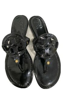 Tory Burch Miller Flip Flop Sandals for Women, Size 10 Black  - 50008647