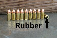 RUBBER cushion    Dummy rounds     9mm    9x19     snap caps x 10