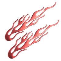 2x Flammen Rot Aufkleber Sticker 3D Auto Motorrad Flamme Feuer Tribal Set 20 cm