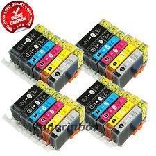 24 Pack PGI-220 CLI-221 ( w/Gray) Ink Cartridge For Canon PIXMA MP980 MP990