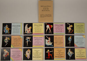 Complete Set of 12 Unused Thos. D. Murphy '41 Enoch Bolles Pin-Up Ink Blotters