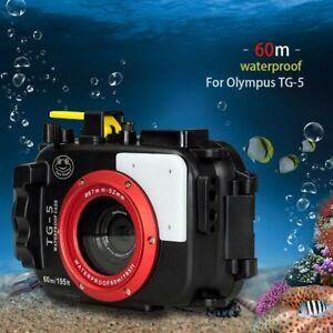 Seafrogs 60m 195ft Waterproof Underwater Camera Housing Case for Olympus TG-5
