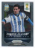 2014 LIONEL MESSI PANINI PRIZM FIFA WORLD CUP WORLD CUP STARS