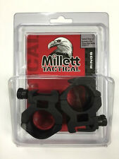 Millett Tactical Rings 30mm Picatinny Medium Matte DT00717 w/Accessory rail