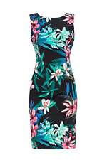 Multi Floral Printed Shift Dress 16