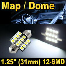 1x 31mm 12SMD festoon Map Dome Super Bright White LED Lights Bulbs DE3157 DE3022