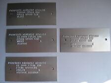 Escort RS2000 etiquetas de servicio Shell Cuerpo