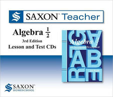 Saxon Homeschool Algebra 1/2 Teacher Lesson & Test Cds Grade 8 New!