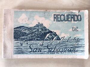 Block 20 Postales Recuerdo de San Sebastian,Serie A,Gonzalez y Galarza