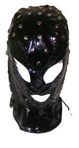 Black Studded Executioner Mask / Hood Fancy Dress