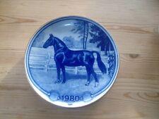 Toll gestalteter Sammelteller Pferde Pferd 1980 Oldenburger von Tove Svendsen