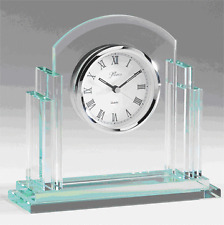 Personalized Glass Desk Clock - FREE Engraving!
