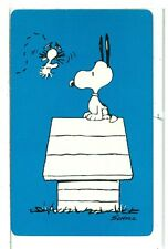 "Single Playing Cards Pin Up ""Peanuts, Snoopy"" Hallmark 1607B Blue"
