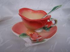 - Teetasse aus Porzellan -  * Rose-Orange - Dekor *  ORIGINAL Jameson & Tailor