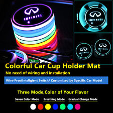 2pcs Colorful LED Coaster Atmosphere Car Light Bulbs For Infiniti Neon Lights