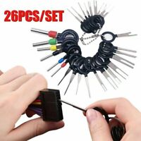26pcs Car Terminal Removal Tool Kit Wire Connector Extractor Puller Release Pin