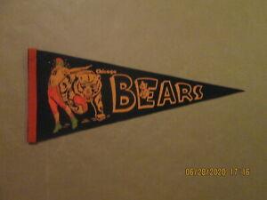 NFL Chicago Bears Vintage1950's Quarterback & Bear Team Logo Football Pennant