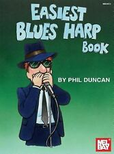 Mel Bay Easiest Blues Harp Book-ExLibrary