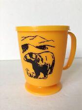 Great Smoky Mountains Tn Black Bear Whirley Yellow Plastic This is My Mug w/ Lid