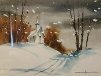 SIGNED WATERCOLOR PAINTING MYSTERY ARTIST IMPRESSIONISM LANDSCAPE