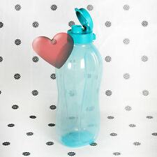 NEW Tupperware 2L Eco Drink Bottle Jug Flip Top Aqua Blue 2 Litre