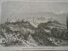 Gravure 1864 - Nord Mexique San Miguel Allende