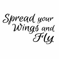 Spread your wings and fly UNMOUNTED rubber stamp, encouragement, graduation, #23