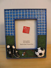 "NEW Russ ""Sports Page"" 2.5 x 3.5 Handpainted Soccer Photo Frame #25839"