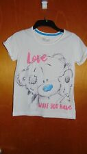 M&S Me To You Tatty Teddy S/Sleeved Top 10-11yrs 146cm White Mix BNWoT