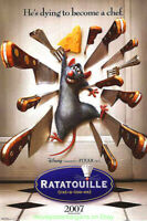 RATATOUILLE MOVIE POSTER Original DS 27x40 DISNEY Animation Brad Bird Film 2007