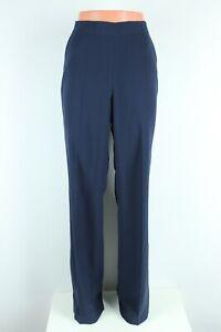ZARA BNWT 39 dark blue navy loose woman pants trousers size S