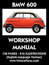BMW 600 ISETTA BUBBLE CAR MICROCAR Owners Manual Handbook Service Repair Book