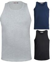 Mens Plain Vest Sleeveless Tank Top Training Gym Ribbed BodyBuilding Vests M-6XL