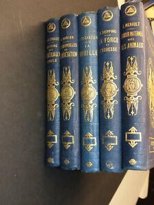 Bibliothèque Des Merveilles 5 Volumes 1869, Cartonnage Et Gravures, Les Minéraux